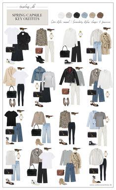 Capsule Wardrobe Casual, French Capsule Wardrobe, Capsule Outfits, Fashion Capsule, Mode Outfits, Basic Outfits, French Wardrobe Basics, Work Wardrobe Essentials, Minimalist Wardrobe Essentials