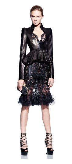 This is an interesting mix of feminine and edgy. I would expect nothing less from McQueen.