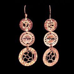 Rose gold earrings By Kelka Jewelry