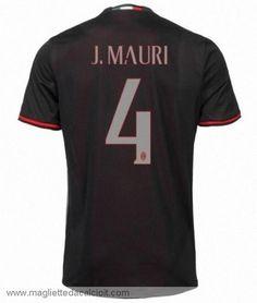 #4 Maglia AC Milan Poco Prezzo J.MAURI Gara Home 16/17