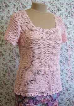 CARAMELO DE CROCHET: blusa en filet