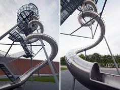 carsten höller erects 30.7-metre-high vitra slide tower in weil am rhein