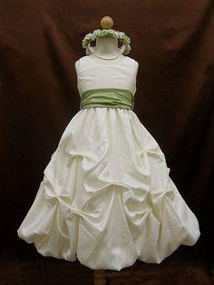 pick up skirt with sage green sash
