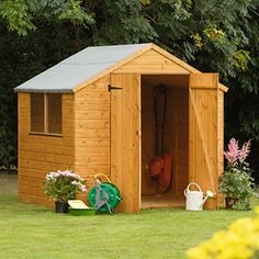 Costco UK - Forest Shiplap Wooden 7 x 7ft Shed