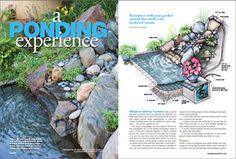 Small Waterfall and Pond Project  Reconnect with your garden around this small-scale, big-city stream and pond.