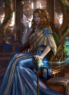 As ilustrações de fantasia de Sarayu Ruangvesh