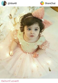 and baby hijab (notitle)<br> Baby In Wedding Dress, Baby Girl Birthday Dress, Wedding Dresses For Kids, Beautiful Baby Pictures, Cute Baby Girl Pictures, Little Girl Photography, Indian Wedding Couple Photography, Children Photography, Cute Baby Dresses