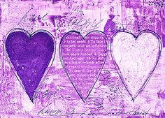 Happy Hearts purple II by artsandsoul