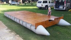 Our new pontoon boat minus its sides