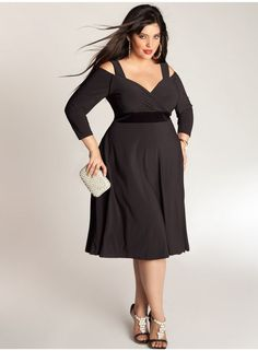 Siren Dress in Black by Igigi for the voluptuous woman. This dress perfectly compliments the fuller bust, big bust, big breasted or curvy woman. Plus Size Cocktail Dresses, Black Cocktail Dress, Plus Size Dresses, Plus Size Outfits, Dresses For Big Bust, Designer Plus Size Clothing, Plus Size Designers, Plus Size Kleidung, Uk Fashion