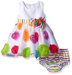 Bonnie Baby Girls Colorful Birthday Party Dress ** Click on the image for additional details.(It is Amazon affiliate link) #cool Baby Baby, Baby Girls, Colorful Birthday Party, Girls Dress Up, Organza Dress, Bonnie Jean, Toddler Fashion, Baby Products, Sash