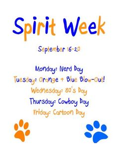 Spirit Week Ideas Google Search
