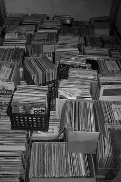 Massive stash of vinyl records to go digging through!