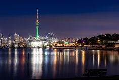Auckland sky tower by night Auckland, Cn Tower, High Quality Images, New Zealand, Cities, Sky, Night, Building, Pictures