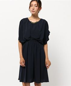 8c5472a68fe68 KATHARINE ROSS(キャサリン ロス)の KATHARINE ROSS ジョーゼットネックレス付ワンピース(ドレス)