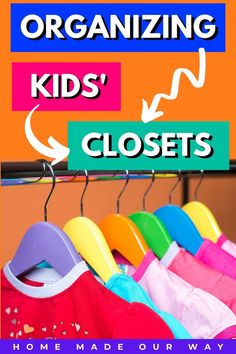 Need help organizing your kid's closet? Check out appropriate ways to organize their clothing by age group. From infants to toddlers to small kids and to tweens, learn how to sort and store their articles of clothing. #organize #closet #kids #clothing Hallway Closet, Walk In Closet, Beautiful Closets, Men Closet, Small Closets, Closet System, Diy Pins, Closet Organization, Baby Wearing
