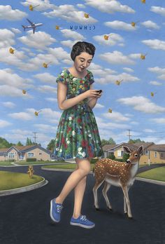 Within the emotionally charged and powerfully discerning art of Alex Gross, we are treated to scenes of both dreamlike surreality and slabs of hard. Mona Lisa, Magic Realism, Lowbrow Art, Wish You Are Here, Pop Surrealism, Surreal Art, Figure Painting, Painting Inspiration, Collage Art