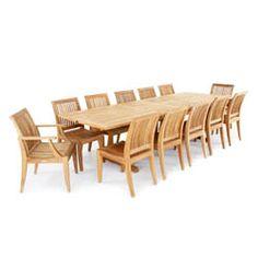 Veranda Laguna Premium Teak Furniture Set for 12 - Westminster Teak Outdoor Furniture