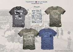 Freelance Graphic Design for Tommy Hilfiger Kids Wear - Boys