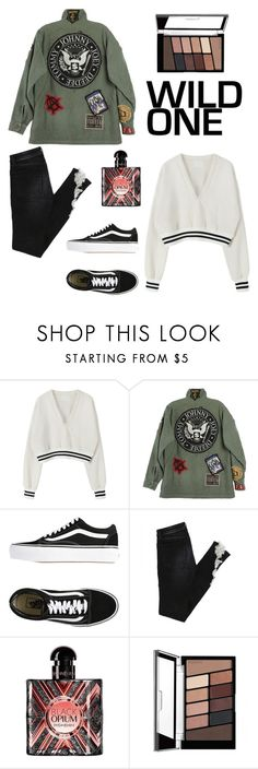 """""""Untitled #52"""" by nynkeblankenstijn ❤ liked on Polyvore featuring R13, Vans and Yves Saint Laurent"""