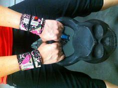 My 1.5 pood/54lb DemonBell  & new Beastette wrist wraps:) #crossfit #beastetteapparel #demonbell