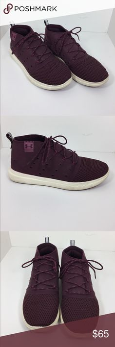 Maroon Under Armour Shoes High top Under Armour shoes. GREAT condition, only worn once or twice. Under Armour Shoes Sneakers