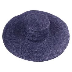 Preowned Givenchy Couture Runway Ete 96 Collection Navy Straw Hat (705 CAD) ❤ liked on Polyvore featuring accessories, hats, blue, straw hat, givenchy, givenchy hat, blue hat and oversized hat