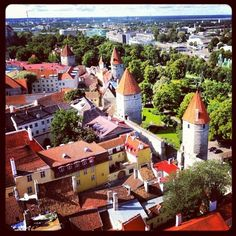 Great view of Tallinn, Estonia Old City, Great View, Places Ive Been, Travelling, Dolores Park, Travel Photography, Old Things, Mansions, Live