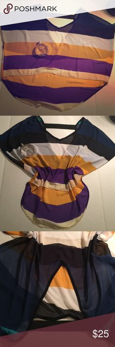 Woman's top size L/ Romeo& Juliet couture Worn / have 2 spots - small / 100% polyester Romeo&Julie couture Tops Tunics