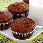Vegan Double Chocolate Banana Muffins Recipe | Eggless Cooking