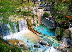 Loutra Pozar Archaeological Site, Travel Maps, Cool Photos, Greece, Waterfall, Places To Visit, Architecture, City, Beach