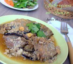 mderbel d'aubergines plat  Algerien, aubergines en sauce.