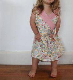 CrissCross Reversible Wrap Cross Over Dress by winkhandmade