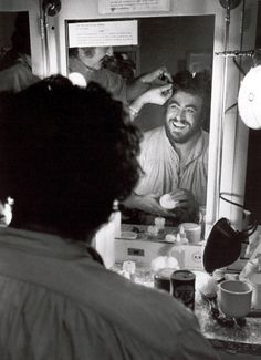 Luciano Pavarotti in the Dressing Room | [photographer unknown]