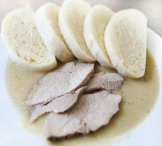Denné menu Vranov   Bravčové stehno v cuketovo-kôprovej omáčke, kysnuté knedle - reštaurácia Hotel Patriot*** #hotel #restauracia #dennemenu