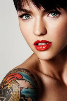 Image result for ruby rose lip tattoo