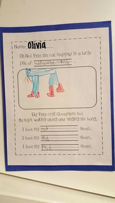 Pete the cat writing