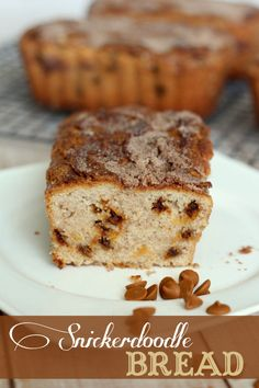 WANT THE RECIPE? The BEST bread recipe ever! Snickerdoodle Bread filled with cinnamon and sugar goodness. { lilluna.com } #snickerdoodlebread