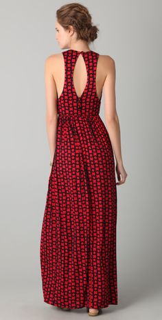 Milly Elizabete Link Print Hostess Gown | SHOPBOP