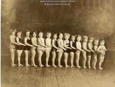 Girls' swim class, Portland, 1928. Item # 20468 on Maine Memory Network