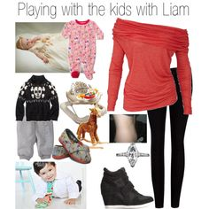 Playing with the kids with Liam - Polyvore