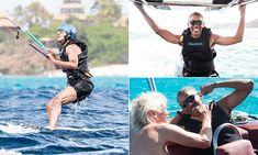 Former President Barack Obama unwound from eight years in the White House with some extreme sports on his Caribbean vacation with billionaire friend Richard Branson.