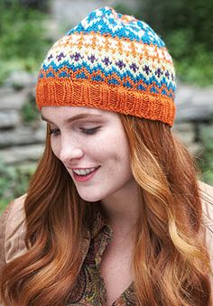 When working fair isle on double-pointed needles, keeping your tension can be a challenge. This five-shade toque is perfect practice. Shown in Patons Classic Wool DK Superwash.