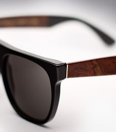 I need to get lasik so I can enjoy sunglasses like this: Fancy - Flat Top Black Briar Sunglasses by Super