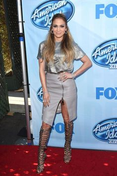 Jennifer Lopez at American Idol XIV Event in Los Angeles