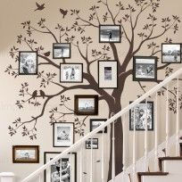 Staircase photo frame Tree Wall Decal