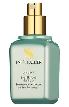 Estee Lauder 'Idealist' Even Skintone Illuminator - This fast-acting serum is proven to dramatically reduce every key sign of uneven skintone: redness, acne marks, dark spots, sun spots and discolorations. Over time, skin looks noticeably clearer and brighter, vibrant and more even-toned. Oil-free formula is proven gentle and effective for all ethnicities. Follow with your SPF moisturizer.