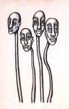 Trippy Drawings, Psychedelic Drawings, Cool Art Drawings, Art Drawings Sketches, Indie Drawings, Arte Grunge, Arte Indie, Arte Sketchbook, Funky Art