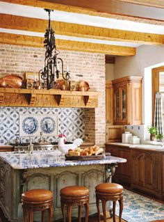 52 Simple French Country Kitchen Decor Ideas France, in addition to being known as the famous fashion city in the world, apparently has an interesting way to decorate the home. Not only accentuates the monarchical style, but French interior d… Modern French Country, French Country Furniture, French Country Kitchens, French Country Farmhouse, French Country Bedrooms, French Country Decorating, Farmhouse Design, Country Style, Modern Rustic