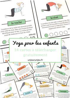 Cartes de yoga pour les enfants